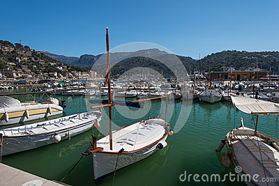 Boats at marina Majorca Balearic islands Spain