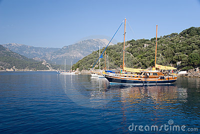 Boats on the Mediterranean