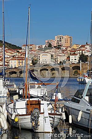 Boats in a Mediterranean marina