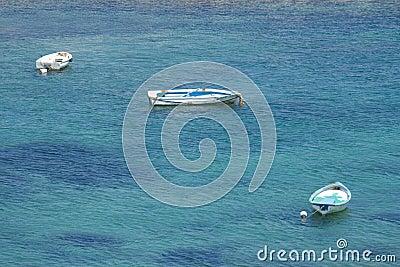 Boats in the Mediterranean sea