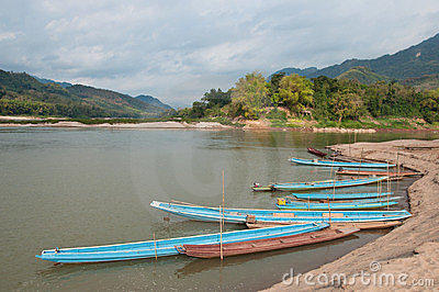 Boats on Mekong River