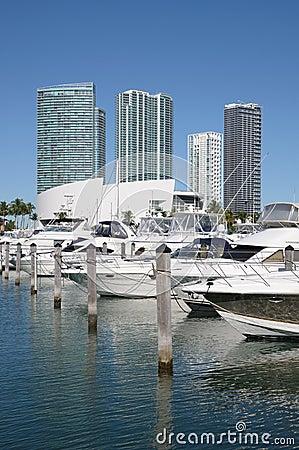 Boats at Miami Bayside Marina