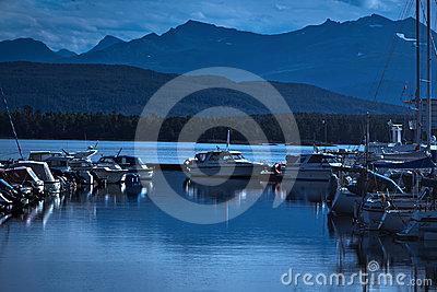 Boats on a moorage