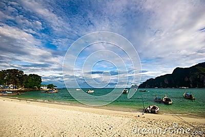 Boats near the beach