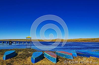 Boats near the lake