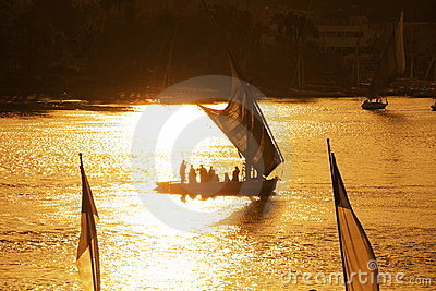 Boats on Nile