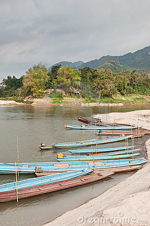 Free Boats On The Mekong River Stock Photos - 23537663