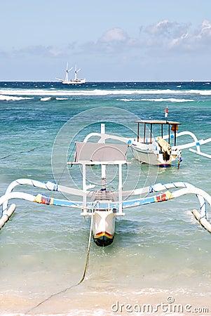 Boats in Padangbai, Bali
