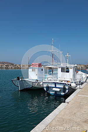 Boats on Paros island