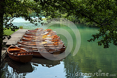 Boats at Plitvice Lakes