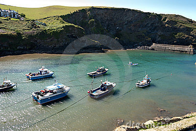 Boats in Port Isaac