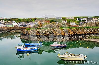 Boats in Portpatrick harbour