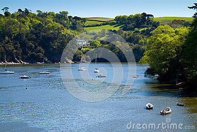 Boats on the River Dart near Dartmouth, Devon