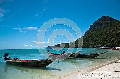 Boats and sea