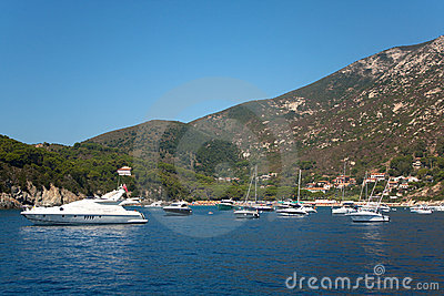 Boats In The Sea Of Elba Island