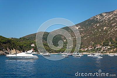 Boats In The Sea Of Elba Island