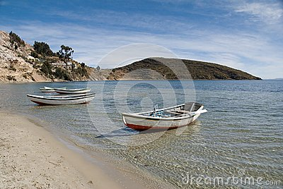 Boats on the shore of Lake