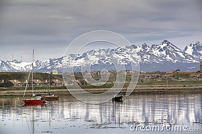 Boats at the shore of Ushuaia, Argentina