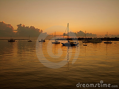 Boats at Sunrise