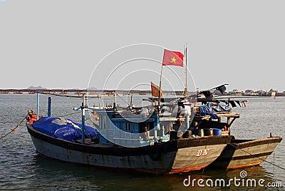 Boats at sunset, Vietnam