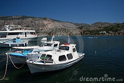 Boats of Symi Editorial Photography
