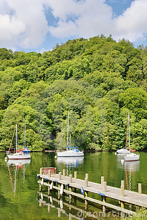Boats and trees on Windermere