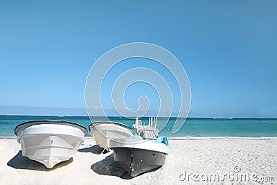 Boats, Tropical Beach and Ocean