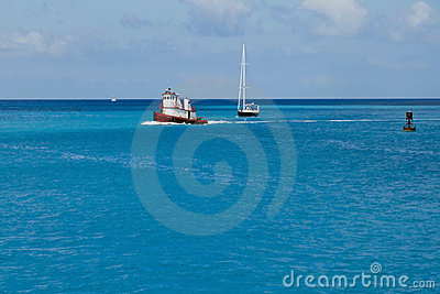 Boats in tropical waters