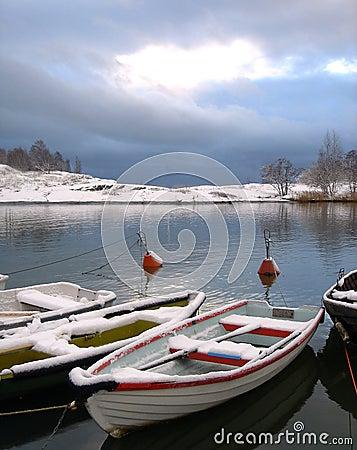 Free Boats Under Snow Stock Photos - 6585653