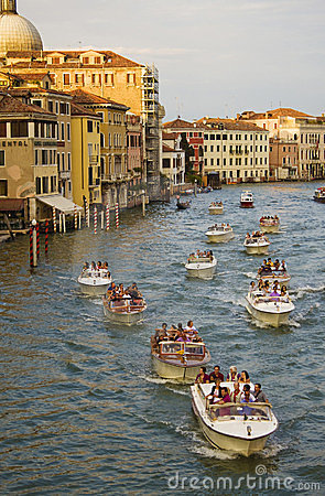 Boats in Venice Editorial Image