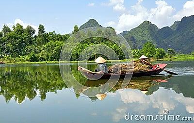 Boatwomen of Vietnam Editorial Photo