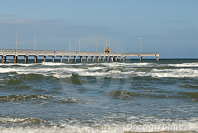 Bob Hall pier on Padre Island, Texas