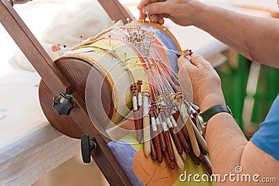 Bobbin lace-making