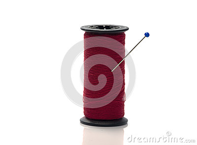 Bobbin with red cotton