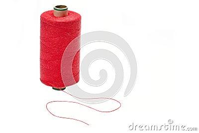 Bobbin of red thread