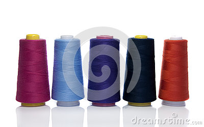 Bobbins with cotton
