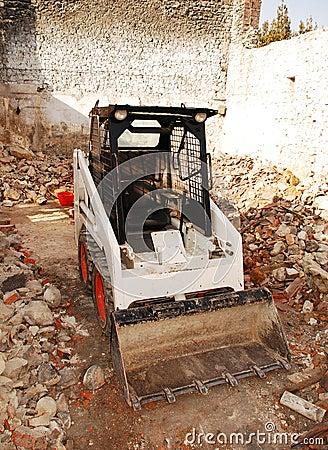 Bobcat Skid Loader in Derelict Building
