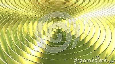 Bobina dourada brilhante de gerencio Anima??o de Loopable 3D filme