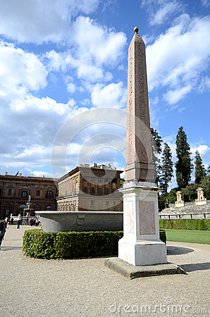 Boboli gardens Obelisk Editorial Stock Photo