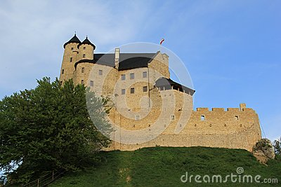 Bobolice castle ruins poland.