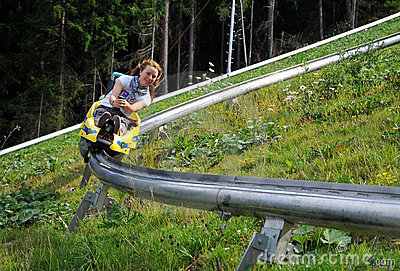 On the bobsled run