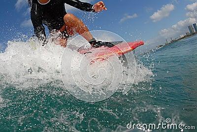 Bobyboarder girl