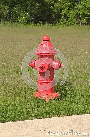 Boca de incêndio vermelha