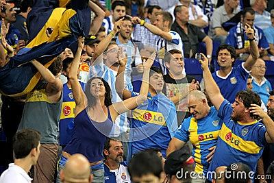 Boca Juniors supporters Editorial Stock Image
