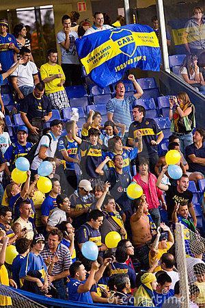 Boca Juniors supporters Editorial Photo