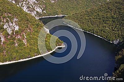 Bocac lake on Vrbas river