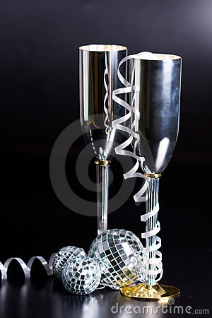 Bocals dekoraci serpentyny srebro