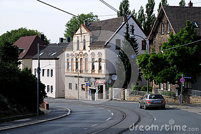 Bochum street - German city Editorial Stock Photo