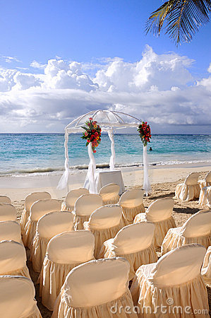Boda de playa tropical