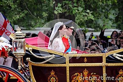 Boda de príncipe Guillermo y de Catherine Foto de archivo editorial